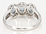 Pre-Owned Gray Spinel Sterling Silver Ring 1.60ctw