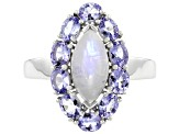 Pre-Owned Tanzanite Rhodium Over Sterling Silver Ring 1.60ctw