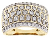 Pre-Owned White Diamond 10K Yellow Gold Ring 0.70ctw