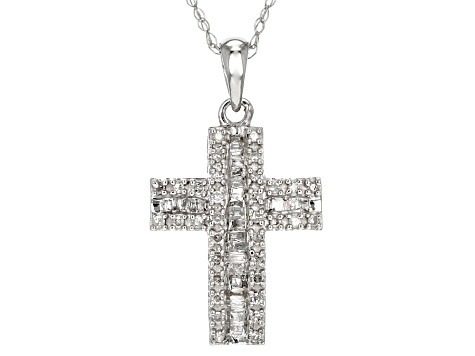 Pre-Owned White Diamond 10k White Gold Pendant .25ctw