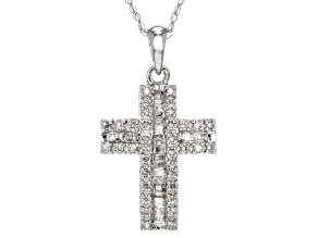 Pre-Owned White Diamond 10k White Gold Pendant .25ctw