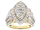 Pre-Owned White Diamond 10k Yellow Gold Ring 3.00ctw