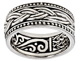 Pre-Owned Sterling Silver Spinner Band Ring