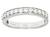 Pre-Owned White Cubic Zirconia Rhodium Over Sterling Silver Ring With Band 9.25ctw