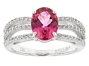 Pre-Owned Pink Danburite Sterling Silver Ring 1.79ctw