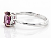 Pre-Owned Pink Blush Color Garnet Sterling Silver Ring 1.19ct