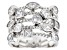 Pre-Owned White Cubic Zirconia Rhodium Over Sterling Silver Ring 3.63ctw