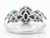 Pre-Owned Blue turquoise sterling silver ring .40ctw