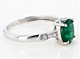 Pre-Owned Green Apaptite 10k White Gold Ring 1.22ctw
