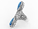 Pre-Owned Powder Blue Indonesian Coral Silver Ring