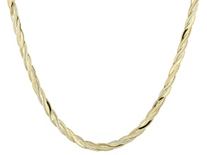 Pre-Owned 10k Yellow Gold Herringbone Link Necklace 20 inch