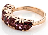 Pre-Owned Blush Cubic Zirconia 18k Rose Gold Over Sterling Silver Ring 3.57ctw