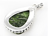 Pre-Owned Green Chrome Diopside Silver Pendant