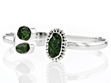 Pre-Owned Green Chrome Diopside Silver Bracelet
