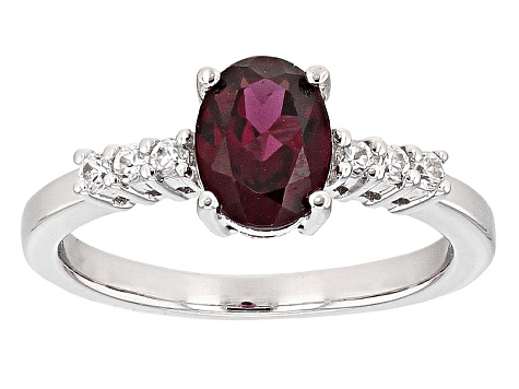 Pre-Owned Purple Rhodolite Sterling Silver Ring 1.46ctw