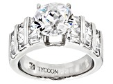 Pre-Owned White Cubic Zirconia Platineve Ring 7.37ctw