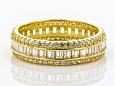 Pre-Owned White Cubic Zirconia 18K Yellow Gold Over Sterling Silver Ring 3.25ctw