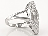 Pre-Owned White Cubic Zirconia Rhodium Over Silver Ring 1.99ctw