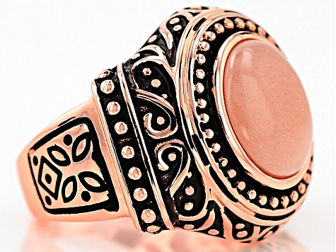 Pre-Owned Copper Sunstone Ring