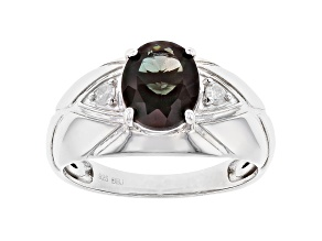 Pre-Owned Green Labradorite Sterling Silver Gent's Ring 2.19ctw