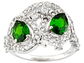 Pre-Owned Green Russian Chrome Diopside Sterling Silver Ring 2.46ctw