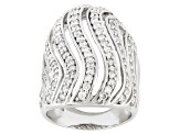 Pre-Owned Cubic Zirconia Silver Ring 2.46ctw (1.60ctw DEW)