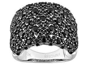 Pre-Owned Black Spinel Sterling Silver Ring 2.48ctw