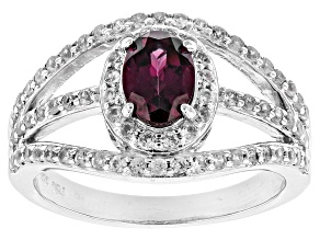 Pre-Owned Purple Rhodolite Sterling Silver Ring 1.29ctw