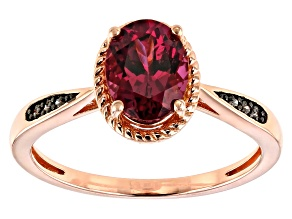 Pre-Owned Pink blush color garnet 18k gold over silver ring 1.52ctw