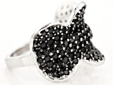 Pre-Owned Black Spinel Sterling Silver Ring 2.54ctw