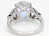 Pre-Owned Multi-color Mercury Mist(R) topaz rhodium over silver ring 5.74ctw