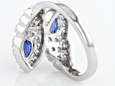 Pre-Owned Blue Kyanite Sterling Silver Ring 1.78ctw