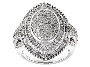 Pre-Owned Rhodium Over Sterling Silver Diamond Ring 2.00ctw