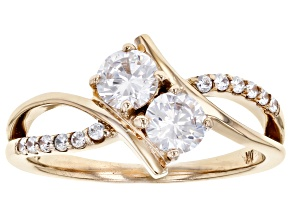 Pre-Owned White Cubic Zirconia 10k Yellow Gold Ring 1.46ctw