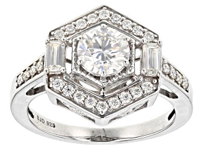 Pre-Owned Moissanite Platineve Ring 1.26ctw DEW