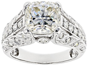 Pre-Owned Moissanite Platineve Ring 3.78ctw D.E.W