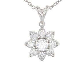 Pre-Owned Moissanite Platineve Pendant 1.30ctw D.E.W