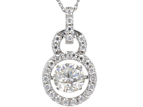 Pre-Owned Moissanite Platineve Pendant 2.68ctw DEW.