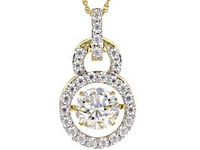Pre-Owned Moissanite 14K Yellow Gold over Silver Pendant 2.68ctw DEW.