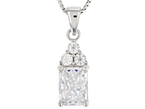 Pre-Owned Moissanite Platineve Pendant 1.98ctw DEW
