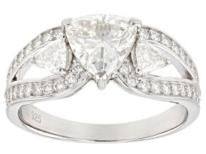 Pre-Owned Moissanite Platineve Ring 1.72ctw DEW.