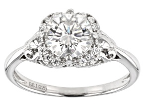 Pre-Owned Moissanite Platineve Ring 1.32ctw DEW.