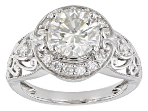 Pre-Owned Moissanite Platineve Ring 2.20ctw DEW.