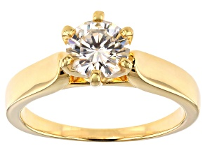Pre-Owned Moissanite 14k Yellow Gold Over Silver Ring 1.00ct DEW.