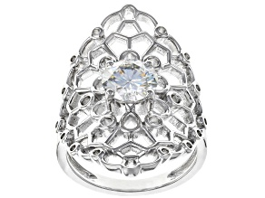 Pre-Owned Moissanite Platineve ring 1.50ct DEW.