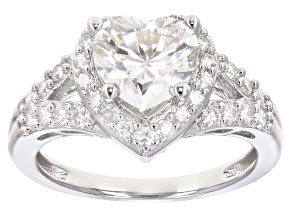 Pre-Owned Moissanite Platineve Ring 2.26ctw DEW.
