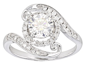 Pre-Owned Moissanite Fire® 1.65ct Diamond Equivalent Weight Round, Platineve™ Ring