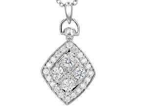 Pre-Owned Moissanite Pendant Platineve™ .92ctw DEW