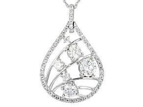 Pre-Owned Moissanite Platineve Pendant 1.96ctw DEW