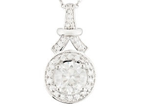 Pre-Owned Moissanite Platineve Pendant 3.17ctw D.E.W.
